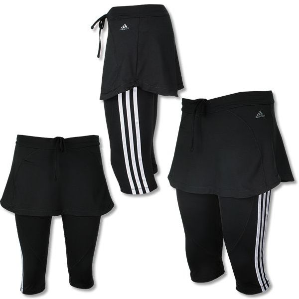 adidas capri mit rock q2 scapri leggings fitness tight. Black Bedroom Furniture Sets. Home Design Ideas
